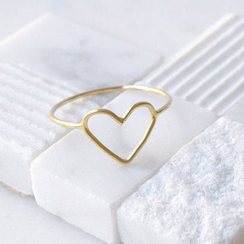 Jewelry - Heart Ring, Gold