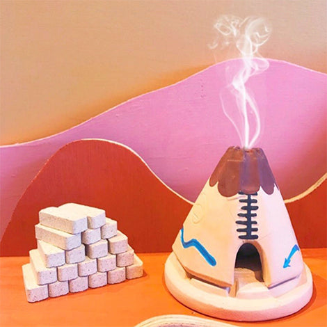 Incense Burner - Teepee with 20 Incense Bricks