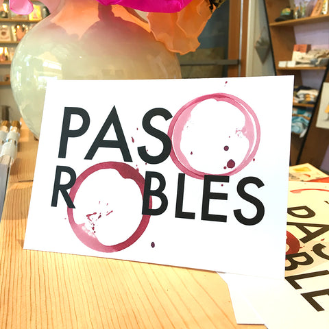 Card - Paso Robles Wine, Postcard