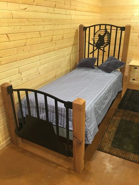 """The Ski Ledgend"" Rustic Twin Bed"