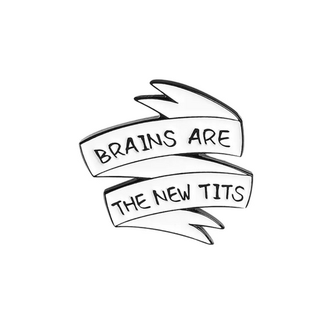 Brains are the New Enamel Pin