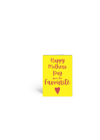 Mother's Day Favourite Card