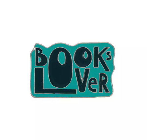 70s Book Lover Enamel Pin