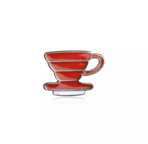 Pour Over Enamel Pin