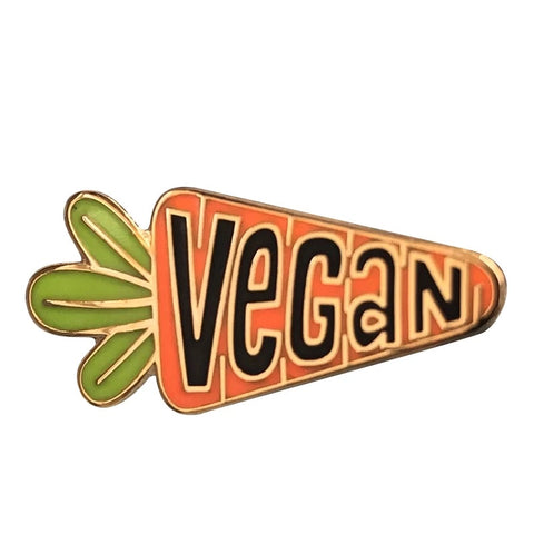 Vegan Carrot Pin