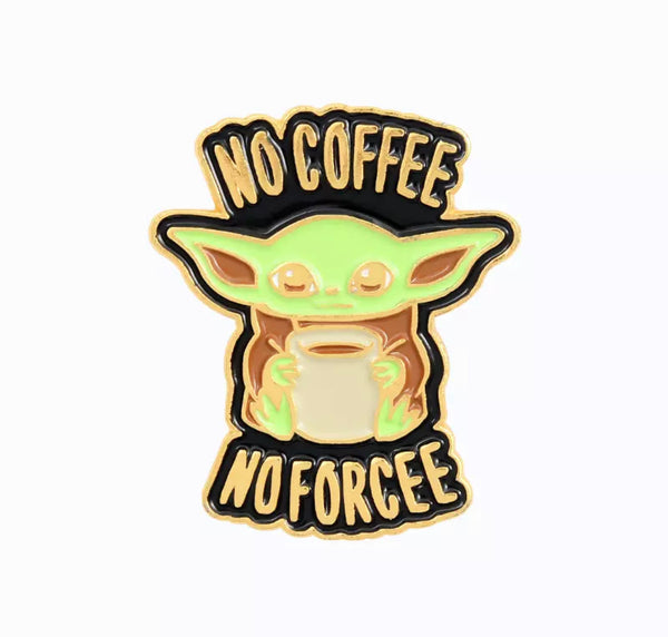 Baby Yoda Coffee Enamel Pin