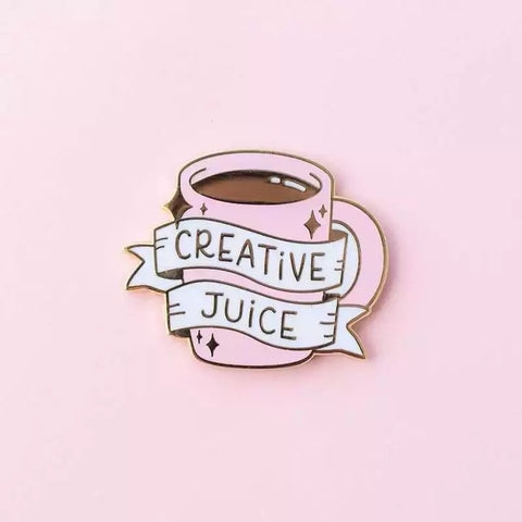 Creative Juice Coffee Pin