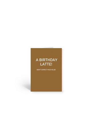 Birthday Coffee Gift Card