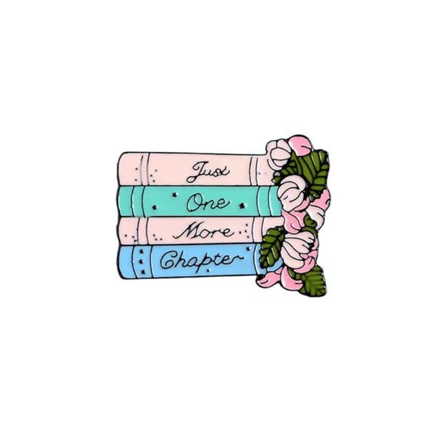 Books One more Chapter Enamel Pin
