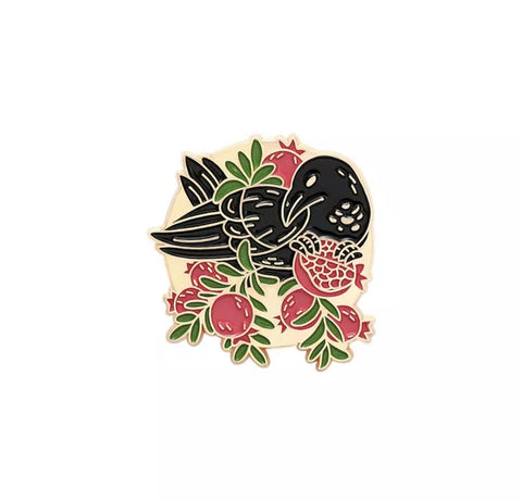 Black Bird Enamel Pin