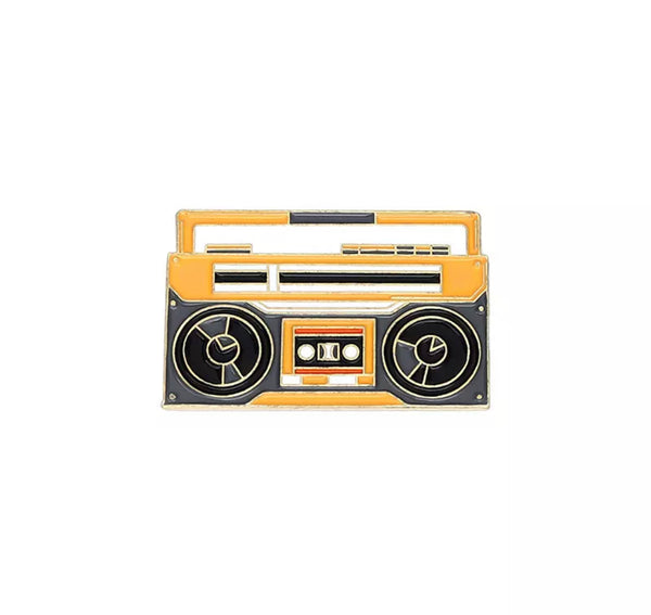 Boom Box Enamel Pin