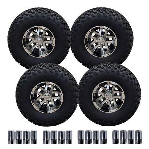 "10"" Blittz Machined Wheel on 22"" Off-Road Pro-Fit Tire Set"