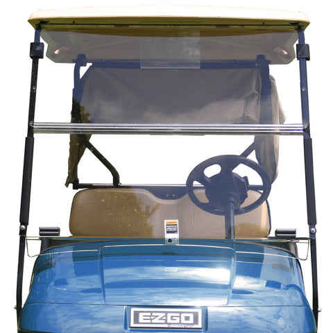 Folding Windshield for EZGO RXV- Tinted