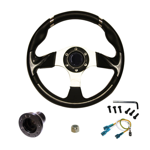 "EZGO Steering Wheel | 13"" - Carbon Fiber"