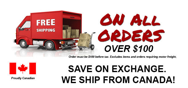free shipping on all orders canada wide over $100