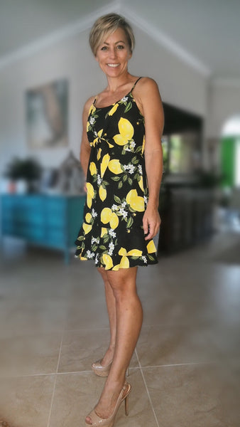 Meyer Lemon Dress- Black