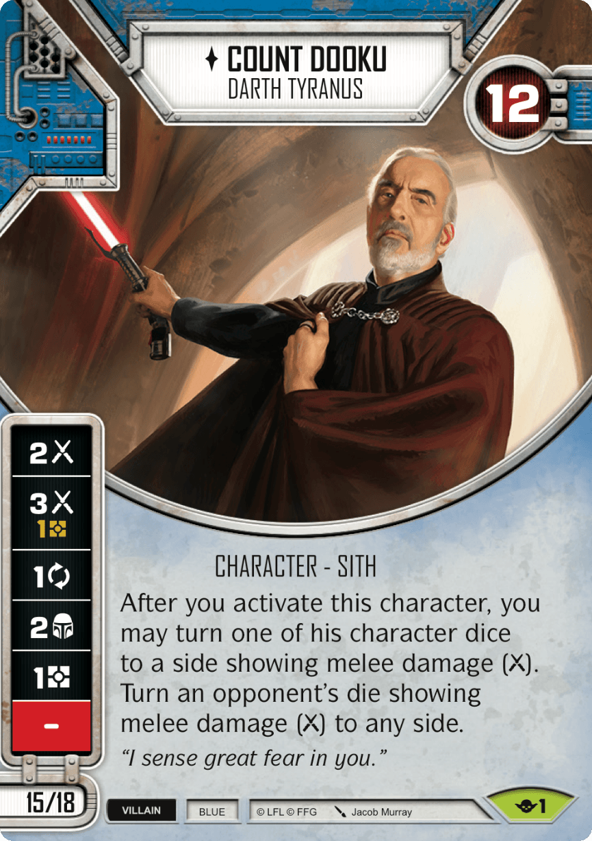 Star Wars Destiny Way of the Force w/Die #1 Count Dooku: Darth Tyranus
