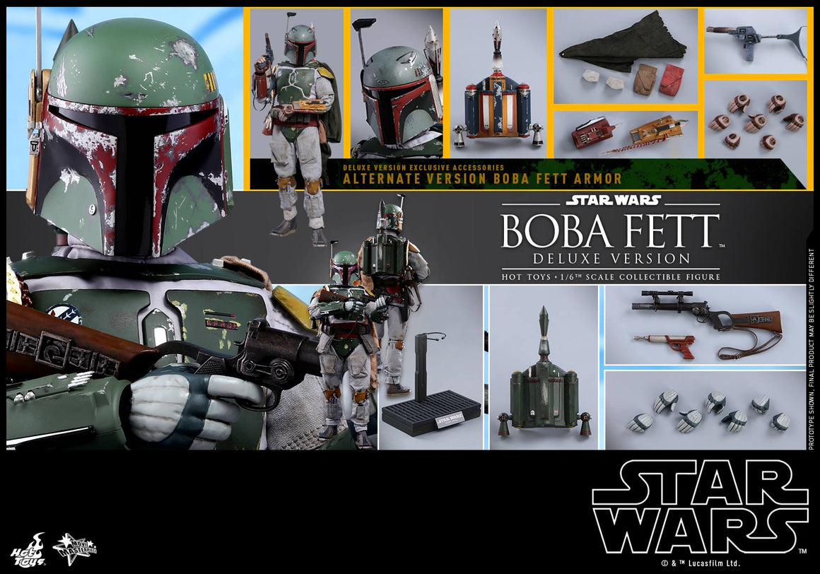 Hot Toys Deluxe Boba Fett Empire Strikes Back