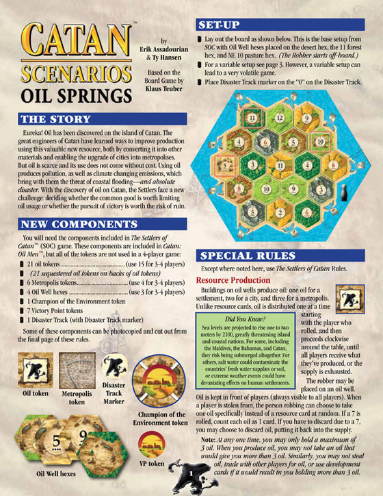 Catan Scenarios Oil Springs