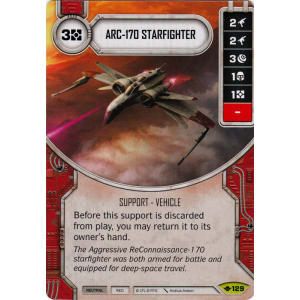 Star Wars Destiny Way of the Force w/Die #129 ARC-170 Starfighter