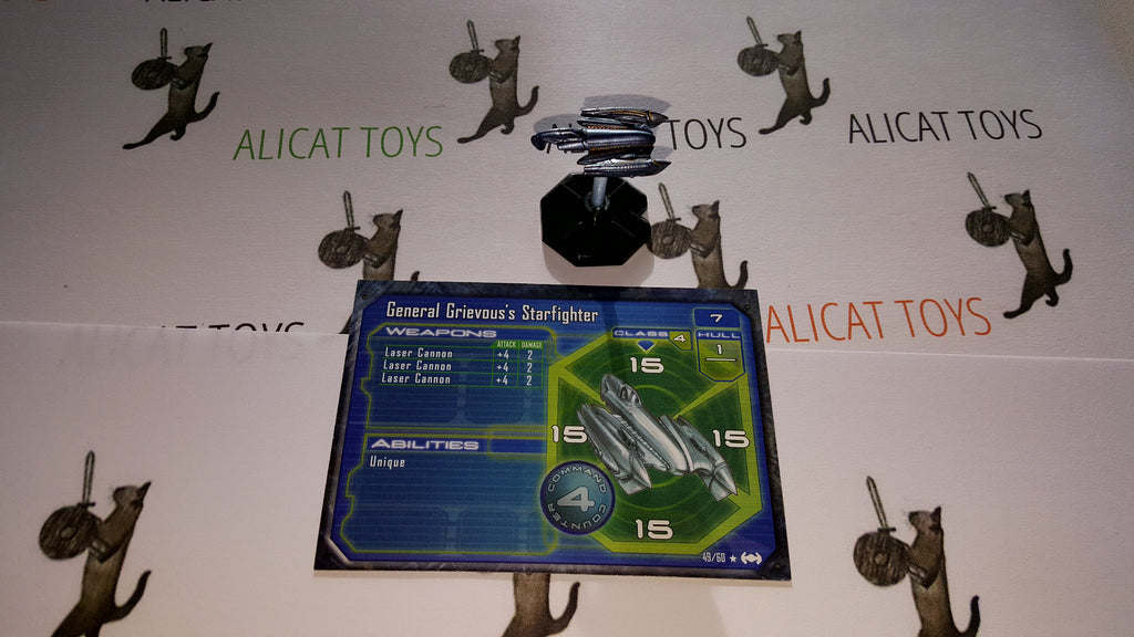 Star Wars Starship Battles 49/60 General Grievous Starfighter