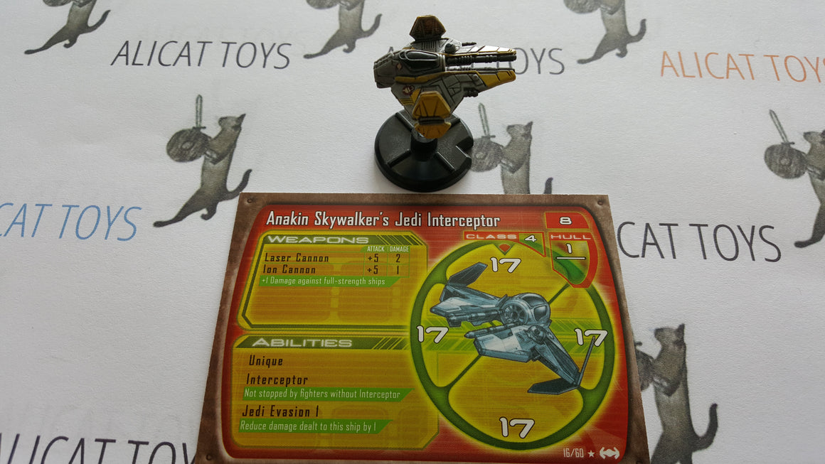 Star Wars Starship Battles 16/60 Anakin Skywalker Jedi Interceptor