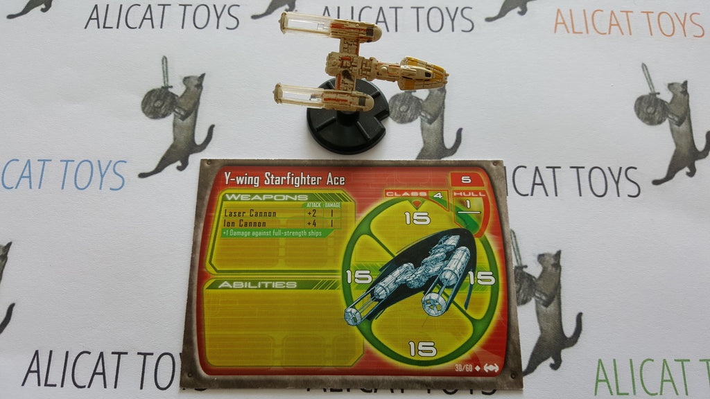 Star Wars Starship Battles 30/60 Y-wing Starfighter Ace