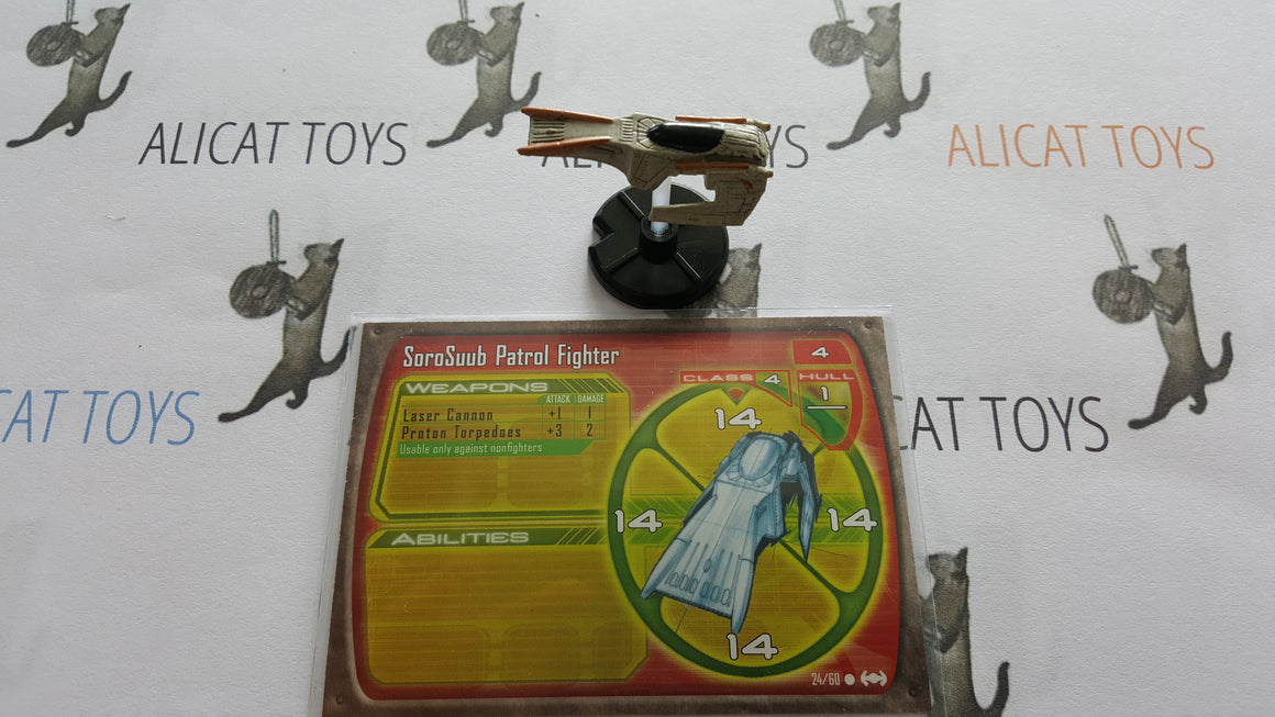 Star Wars Starship Battles 24/60 Sorosuub Patrol Fighter