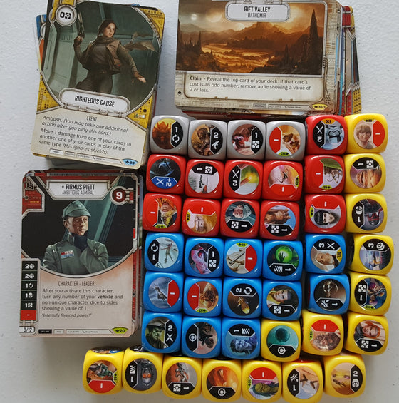 Star Wars Destiny Way of the Force Play Set 2x Rare 2x Common 2x Uncommon