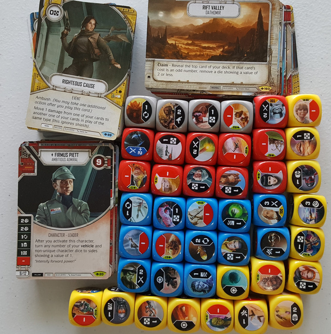 Star Wars Destiny Way of the Force Common Uncommon Rare Set