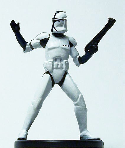 Star Wars Miniatures Clone Wars 10/40 Elite Clone Trooper Commander