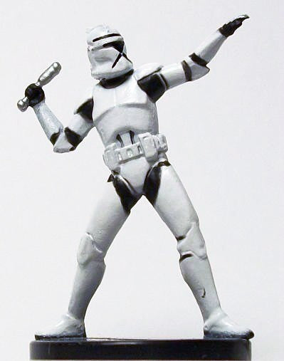 Star Wars Miniatures Clone Wars 11/40 Elite Clone Trooper Grenadier