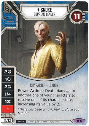 Star Wars Destiny Way of the Force w/ Die #04 Snoke Supreme Leader