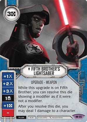 Star Wars Destiny Way of the Force w/ Die #15 Fifth Brother's Lightsaber