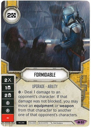 Star Wars Destiny Way of the Force w/ Die #51 Formidable