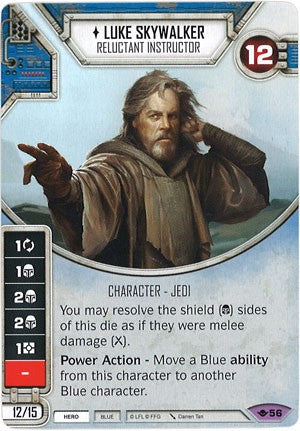Star Wars Destiny Way of the Force #56 Luke Skywalker Reluctant Instructor