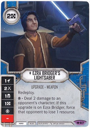 Star Wars Destiny Way of the Force w/ Die #67 Ezra Bridger's Lightsaber