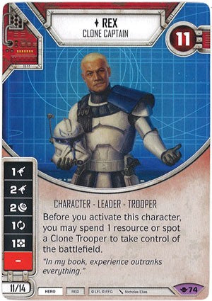 Star Wars Destiny Way of the Force w/ die #74 Rex: Clone Captain