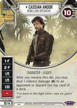 Star Wars Destiny Way of the Force w/ Die #90 Cassian Andor Rebellion Operative