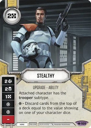Star Wars Destiny Way of the Force w/ Die #105 Stealthy