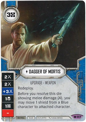 Star Wars Destiny Way of the Force w/ Die #117 Dagger of Mortis