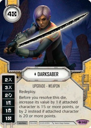 Star Wars Destiny Way of the Force w/ Die #142 Darksaber