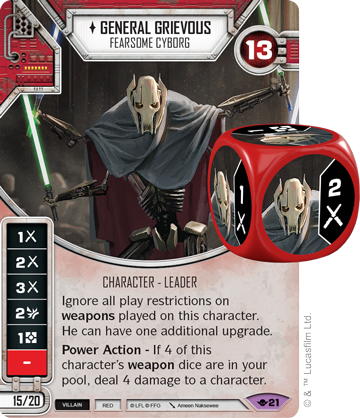 Star Wars Destiny Way of the Force #21 General Grievous: Fearsome Cyborg