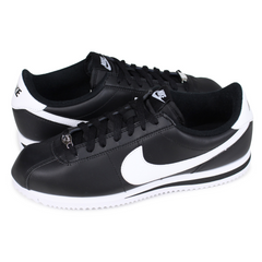 Nike Tenis Cortez Basic Leather Negro, Unisex