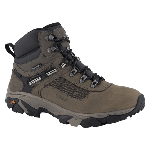 Hi-Tec Zapatos Hiking Ravus Quest Lux Mid Waterproof Tobacco/Black/Snow, para Hombre