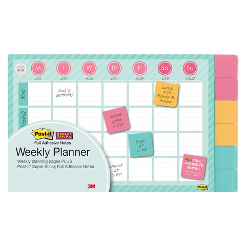 3M Post-It Planeador Semanal Permanente 730