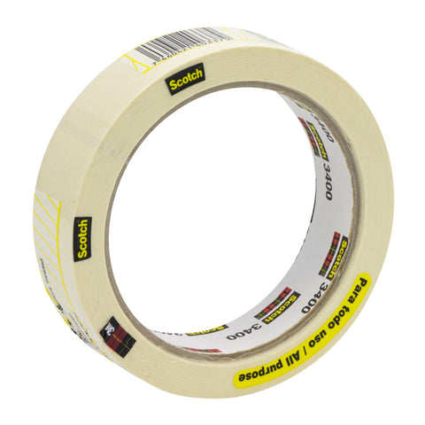 3M Cinta Masking Tape Scotch 36mm x 25 mts 3400, 1 Unidad