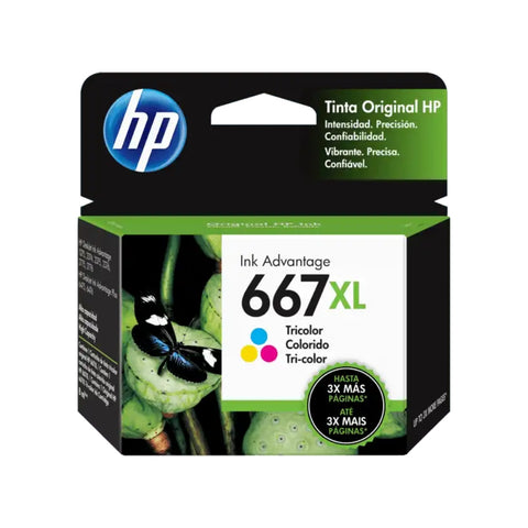 HP Cartucho de Tinta Original Tricolor 667XL (3YM80AL)