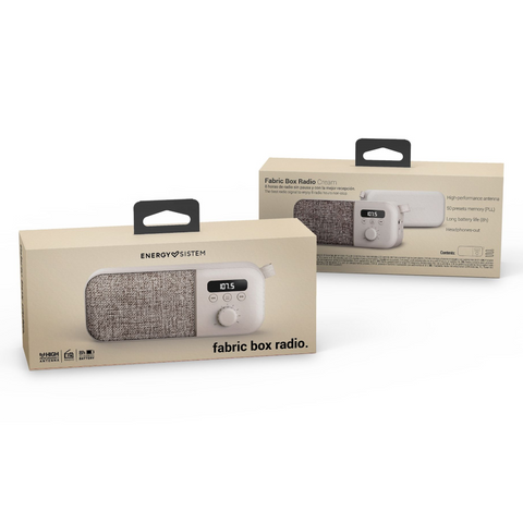 Energy Sistem Radio Portátil Fabric Box