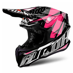 Airoh Casco Cross Twist Iron Pink Gloss
